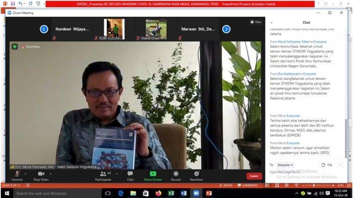 "Wakil Wali Kota Yogyakarta Heroe Poerwadi Luncurkan Buku ""Media, Komunikasi, dan Krisis Covid-19"""